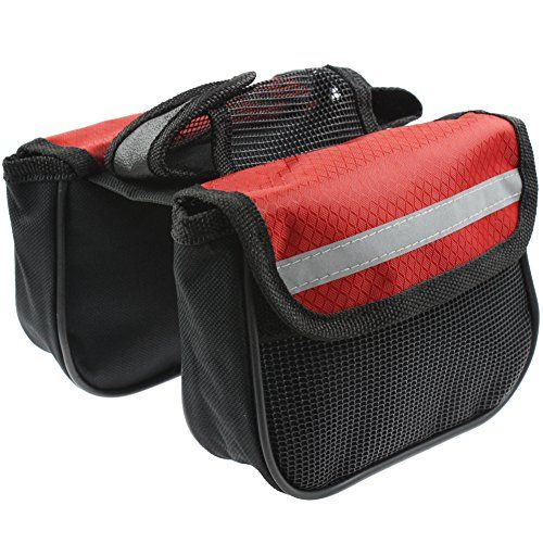 Mountain bike bag Bicycle Tube Frame Top tube package Cycling equipment (Small)(Red) RUKEY - http://mountain-bike-review.net/products-recommended-accessories/mountain-bike-bag-bicycle-tube-frame-top-tube-package-cycling-equipment-smallred-rukey/ #mountainbike #mountain biking