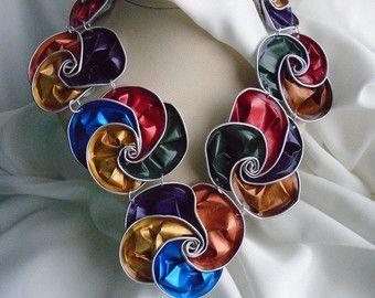 pod necklace nespresso necklace bib necklace alluminium di ripaSsi