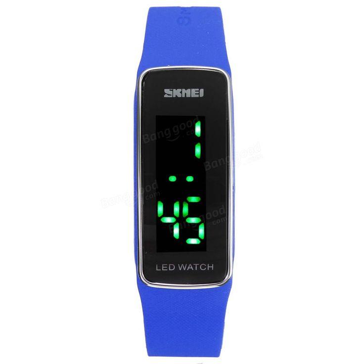 SKMEI 1119 LED Digital Silicone Band Men Women Wrist Watch at Banggood