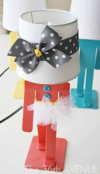 Cute Lamp Makeover. The lamps are from Target. #kids #DIY
