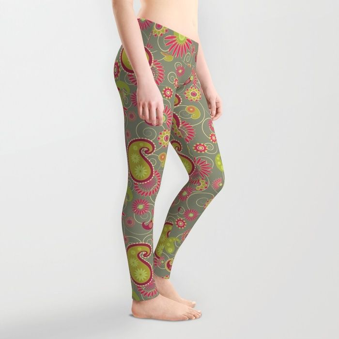 Sweet olive petrichor Leggings by Okopipi Design | Society6