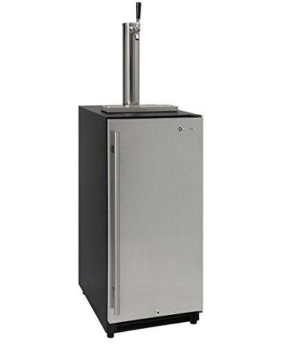 Kegco VSK-15SSRN 15″ Wide Built In Undercounter Kegerator with Stainless Steel Door