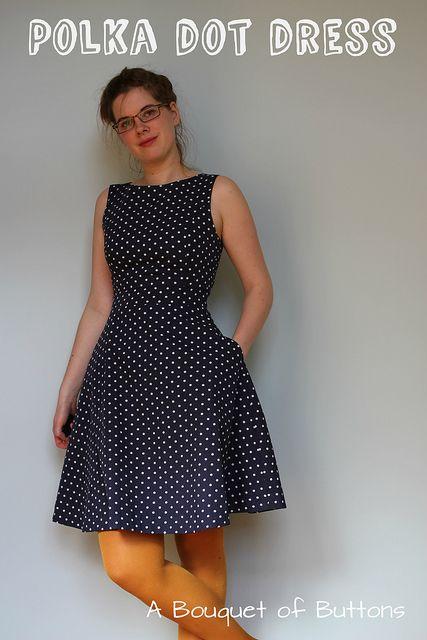 Polka dot dress by A Bouquet of Buttons,