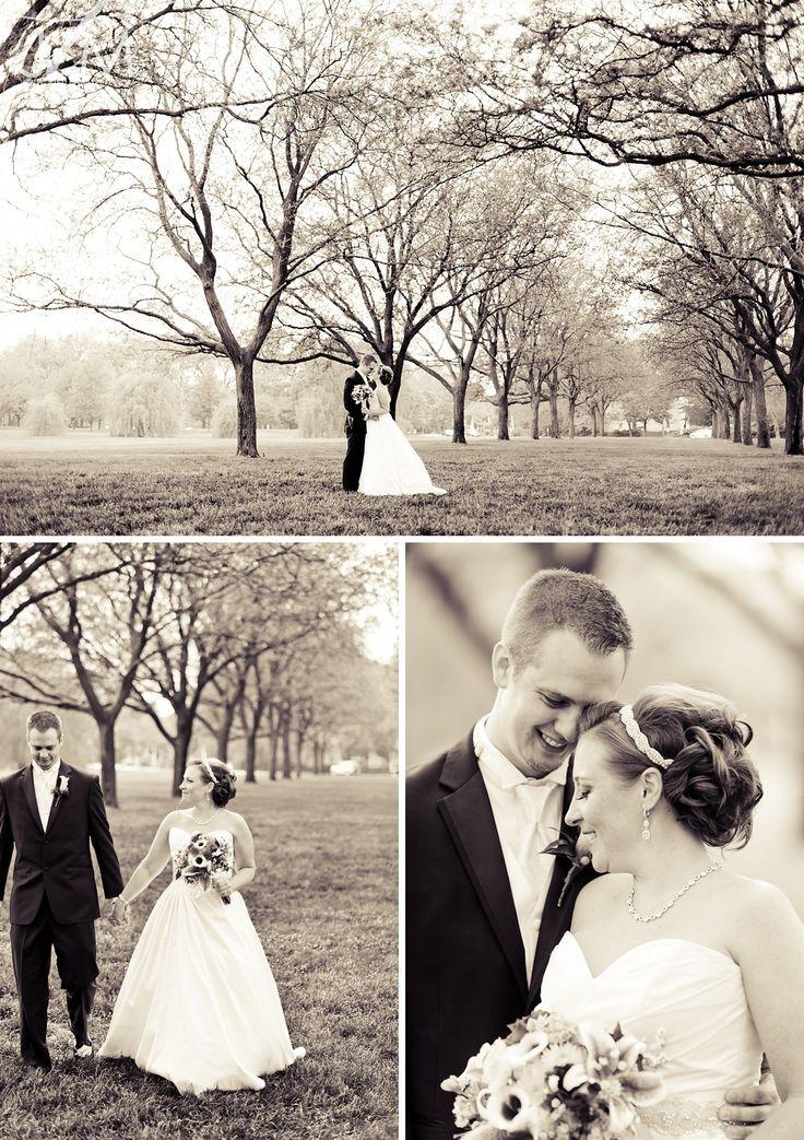 cool wedding shot ideas%0A Prairie Landing Wedding  West Chicago  Illinois  first look photo ideas
