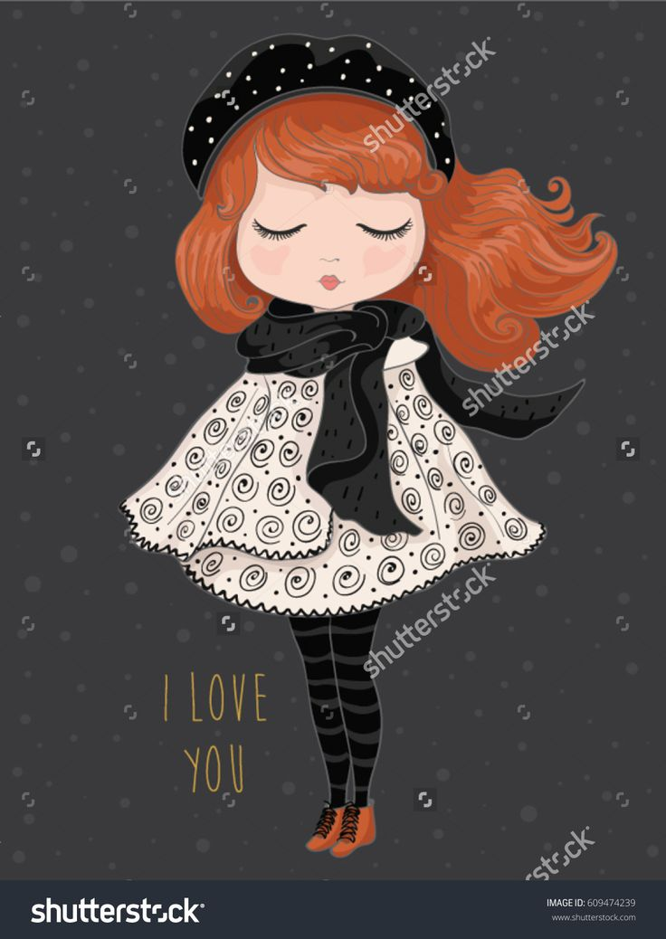 https://www.instagram.com/senaykurtulus/  Girl vector.Children illustration for School books and more.T-shirt graphic.cartoon character.vintage postcard.Template for design cards, notebook, shop, poster.Fairy girl print.Winter girl