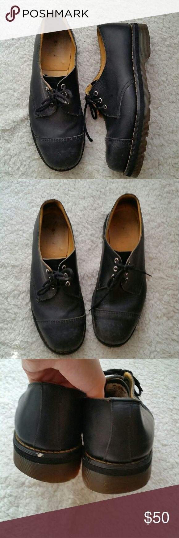 Dr.Martens Steel Toe MADE IN ENGLAND Size 11  In Good Condition  (Refer to Pictures) Dr. Martens Shoes