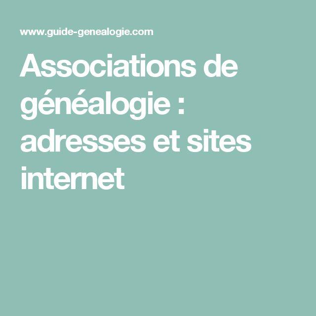 Associations de généalogie : adresses et sites internet