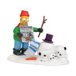 Department 56 The Simpson's Village from How Not to Build a Snowman Village Accessory Figurine, 2.56-Inch