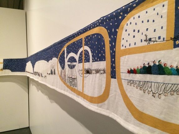 "Britta Marakatt-Labba, ""Historja,"" detail. From the post ""Sami Stories in Alaska,"" www.amymeissner.com/blog/sami-stories-in-alaska"
