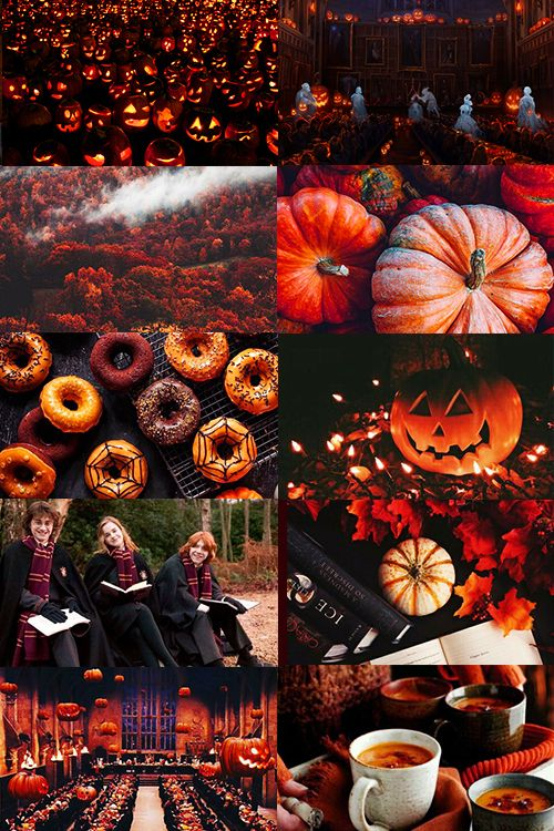 Halloween at Hogwarts aesthetic