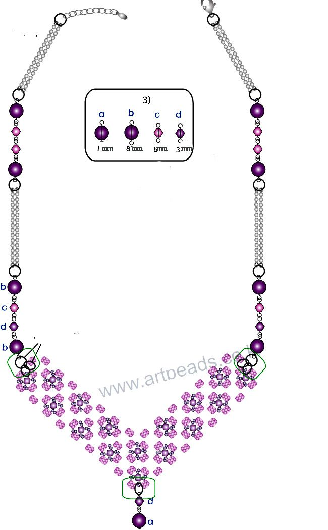 necklace pattern schema magic seed bead