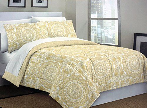 cynthia rowley 3pc full queen duvet cover set paisley floral medallion damask mustard yellow white california king
