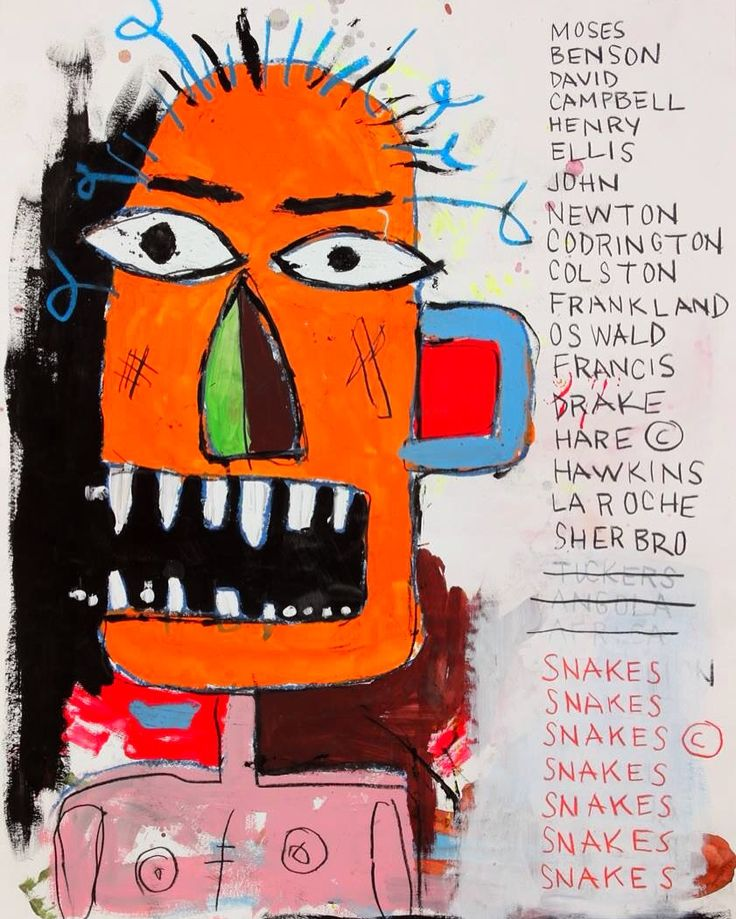 Jean-Michel Basquiat. See The Virtual Artist gallery: www.theartistobjective.com/gallery/index.html
