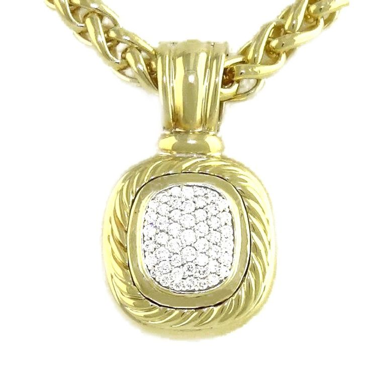 David Yurman David Yurman 18K Yellow Gold Diamond Albion Pendant | TrueFacet