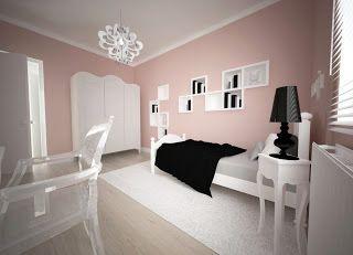 gotowyprojekt.com: romantyczny pokój w pudrowym różu