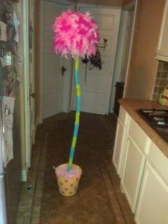 Make a Truffula Tree from the Lorax!  Use in the class library or for Dr. Seuss' birthday.