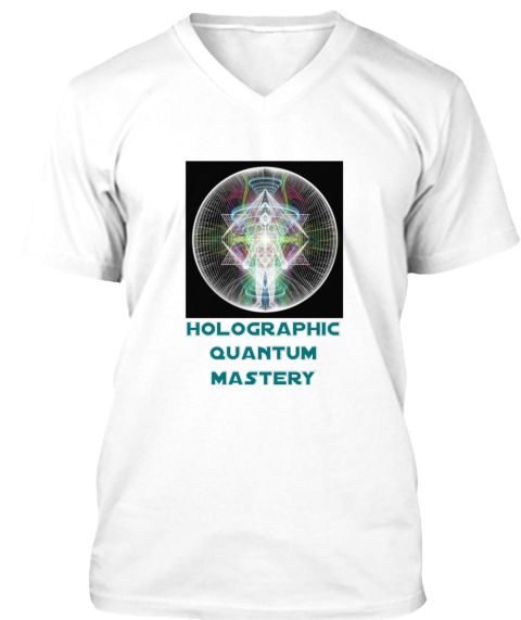 Holographic  Quantum  Mastery White T-Shirt Front