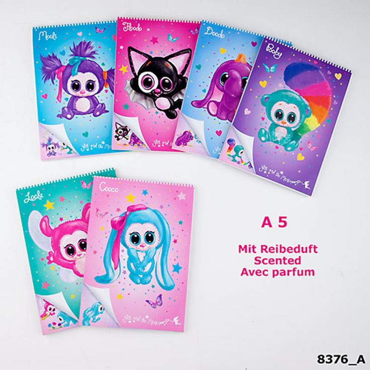 Ylvi and the Minimoomis bloc DIN A5 scented online at Papiton.