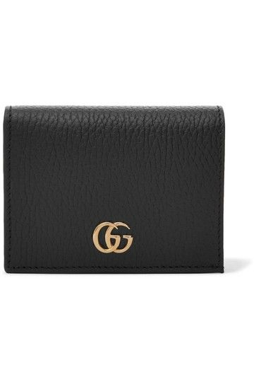 7de570c25ba Gucci Black Marmont New Calfskin Texture Leather Card Case Bifold Wallet -  Tradesy