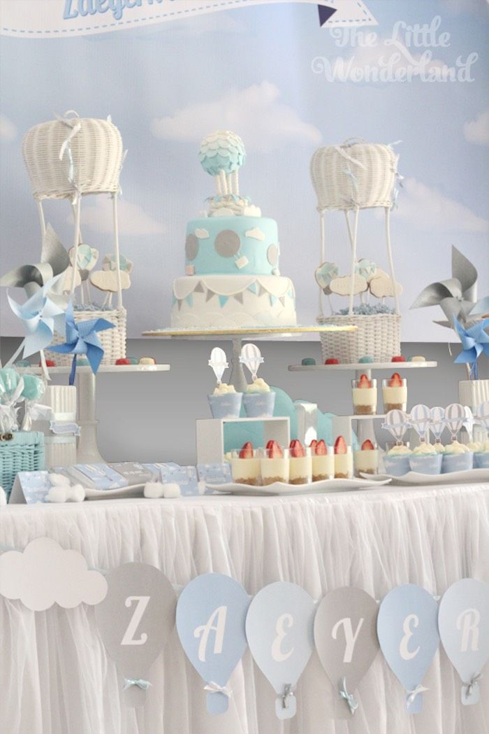 Sweet Table from a Hot Air Balloon Birthday Party via Kara's Party Ideas | KarasPartyIdeas.com (16)