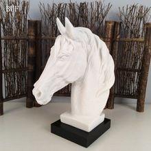 BUF Abstrata Moderna Estátua Cabeça de Cavalo Escultura Escultura de Estátuas de Resina Enfeites de Resina Casa Acessórios de Decoração Geométrica