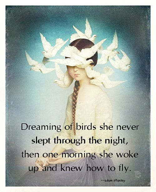 66 best fantasy quotes images on pinterest dialogue prompts dreaming of birds she never slept through the night then one morning she woke up and knew how to fly fantasy quotes voltagebd Images