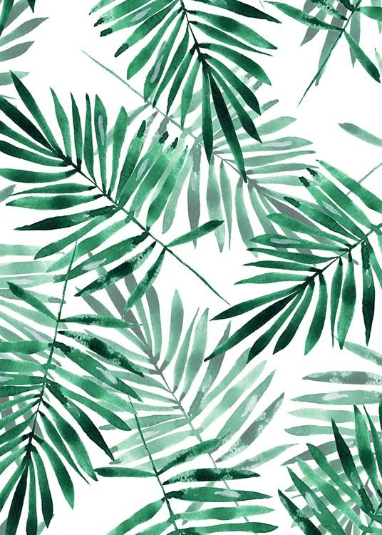 Palm leaves pattern Poster in the group Posters & Prints at Desenio AB (2286) – Evie Black