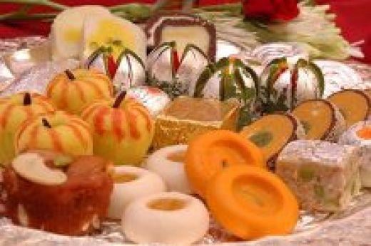Indian Gujarati Sweets at Diwali Festival