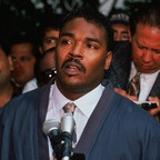 Rodney King April 9, 1965- June 17 2012..was caught by the Los Angeles police after a high-speed chase on March 3, 1991. The officers pulled him out of the car and beat him brutally, while amateur cameraman George Holliday caught it all on tape. RIP