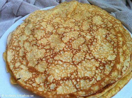 Recept - Pannkakor lchf