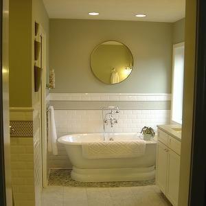 Exceptional Bathrooms   Carerra Marble Tile Floor And Countertop, Pebble Shower Floor,  Subway Backsplash, · Abgeschrägte U Bahn FlieseU Bahn Fliesen ...