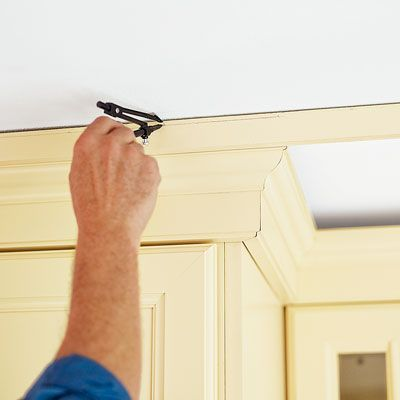 How To Install Kitchen Cabinet Crown Molding With A Hardwood Frame