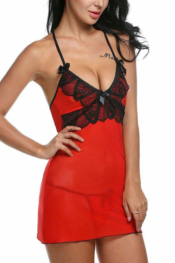 a6530e7d36c Sexy-Lingerie-Sleepwear-Women-Lace-G-string-Dress-Underwear-Babydoll- Nightwear Women Lace Sleepwear