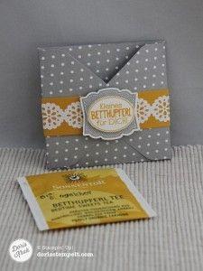 Doris Kroh: Teebeutelverpackung mit dem Envelope Punch Board