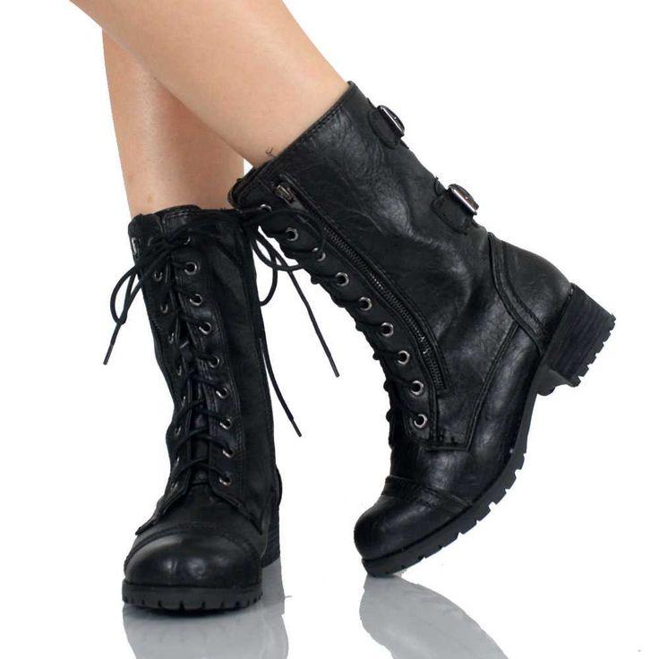 cute black combat boots for women! | my kinda shtuff ...