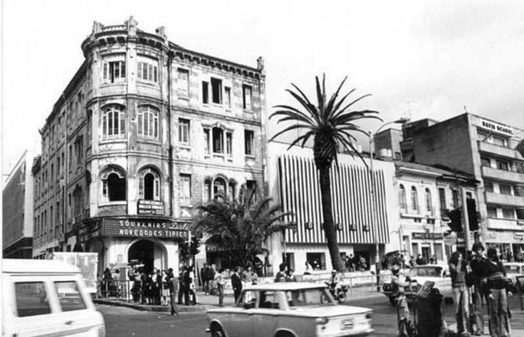 Santafé de Bogotá - Terraza Pasteur. Carrera 7ª con Calle 23. Foto de 1950.