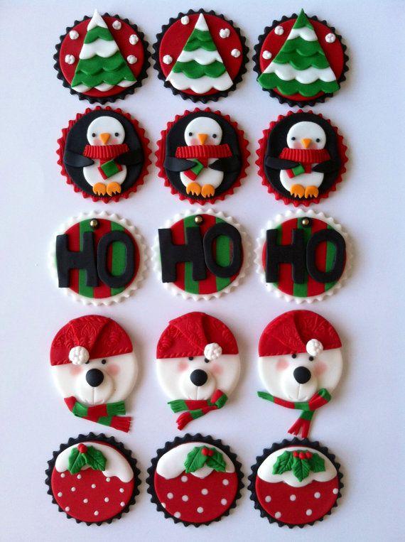 Toppers hiver Noël par CakesbyAngela sur Etsy