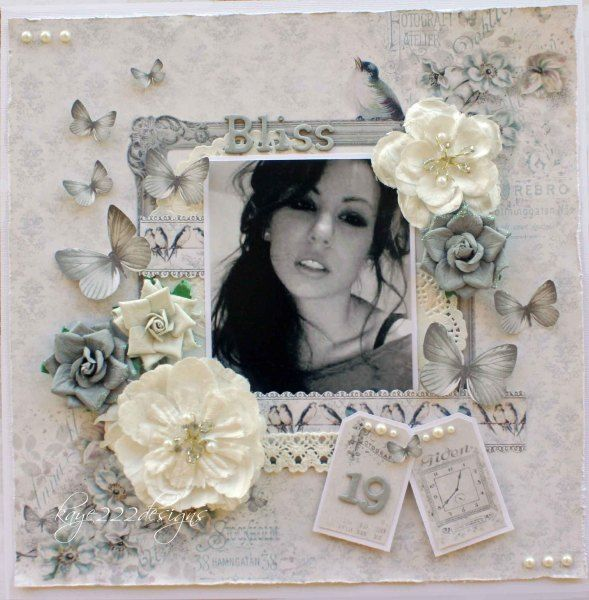 Shabby chic scrapbooking page