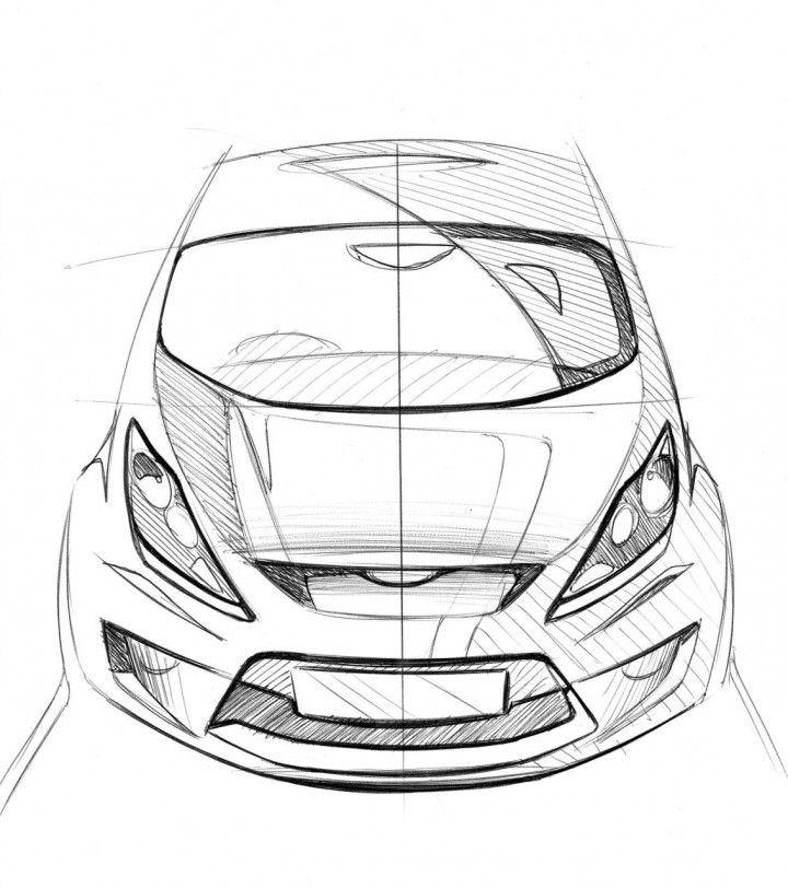 ford fiesta design sketch from the design sketch board