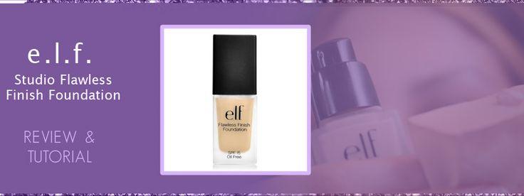 Elf Studio Flawless Finish Foundation Review E.L.F. Cosmetics