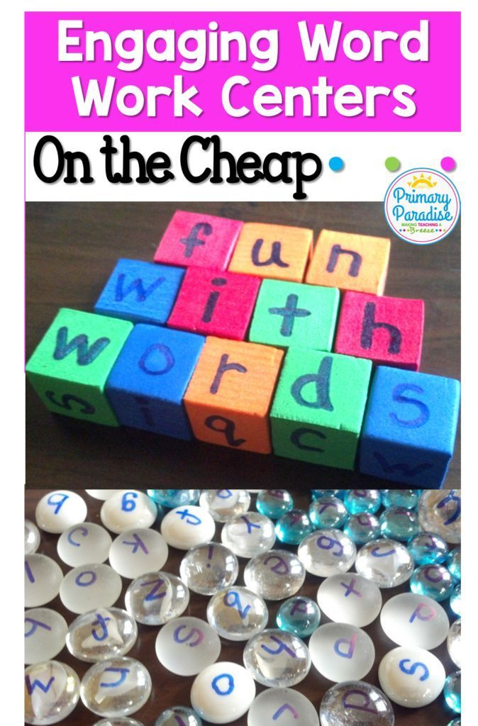 Use these easy, cheap, and engaging diy word work and writing centers in your classroom. You will love how versatile and your students will love how fun!
