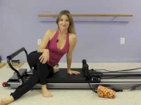 ScolioPilates Exercise: Side-Lying Leg Work on the Pilates Reformer with Karena Thek Lineback - YouTube