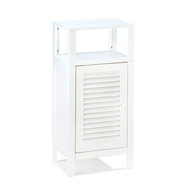 White Bathroom Storage Cabinet  #WhiteBathroomStorageCabinet