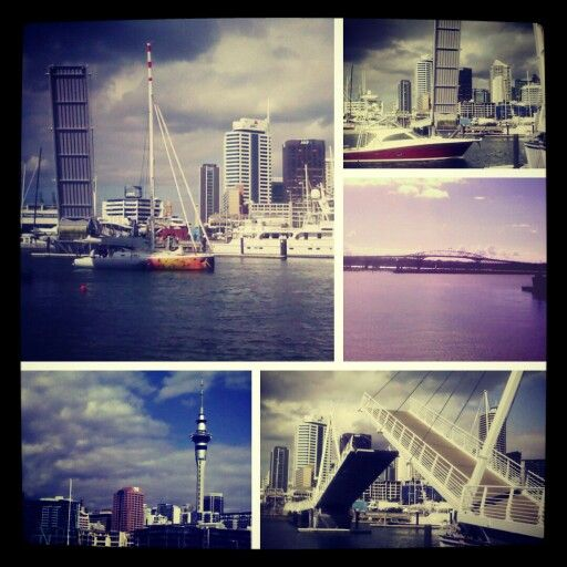 Lovely day in Viaduct Harbour, Auckland