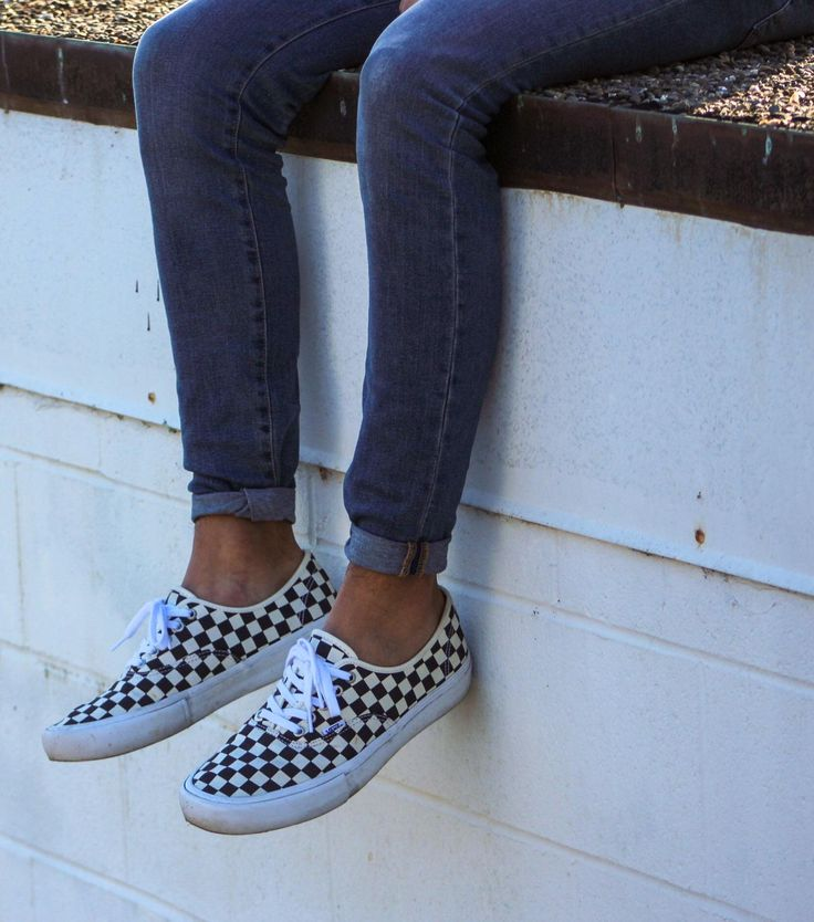 vans authentic checkerboard navy