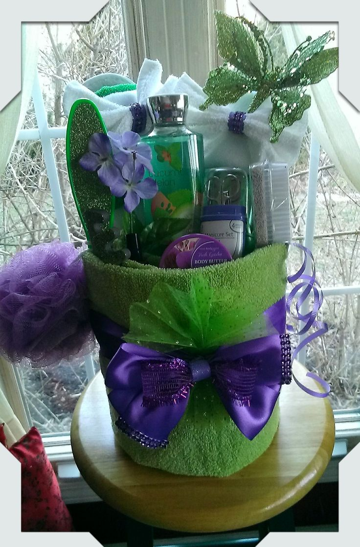 Towel Spa Gift Basket Made By Norma S Unique Gift Baskets