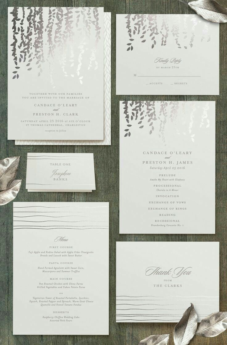 birdcage wedding invitation template%0A Elegant silver foiled wedding invitations from Shop Now