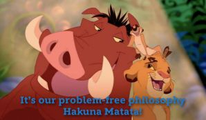 Disney songs Timon, Pumbaa, and Simba from The Lion King