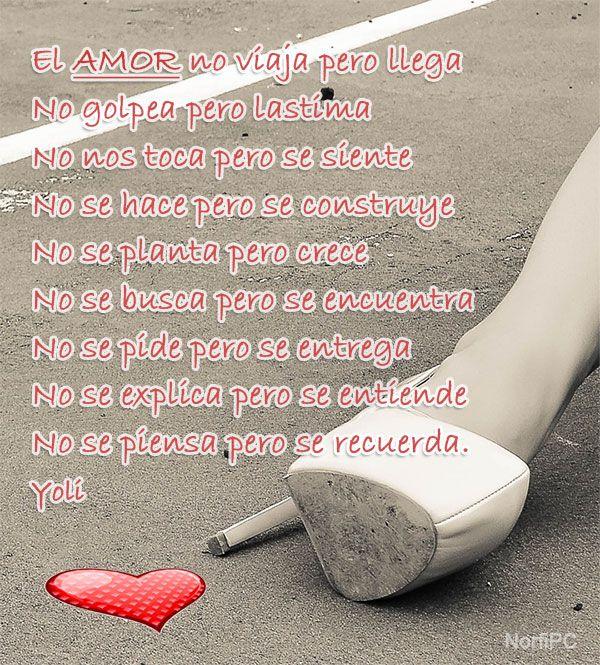 El amor es difícil de explicar, pero fácil de entender ...