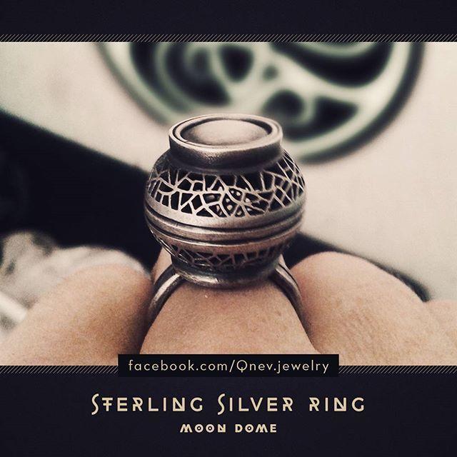 "Sterling silver ring ""Moon Dome"" #silverring #sterlingsilver #jewellery #jewelry #mythe #lemythe #metalwork #openwork"